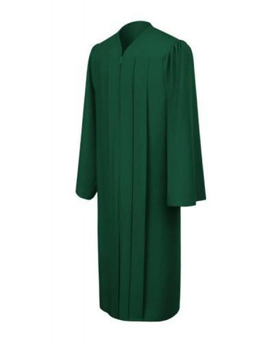 Matte Hunter Bachelors Graduation Gown - College & University - Graduation Cap and Gown