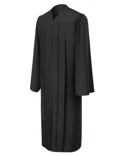 Matte Black Bachelors Graduation Gown - College & University - Graduation Cap and Gown