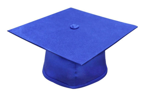 Matte Royal Blue Bachelors Graduation Cap - College & University - Graduation Cap and Gown