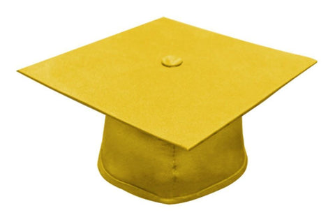Matte Gold Bachelors Graduation Cap - College & University - Graduation Cap and Gown