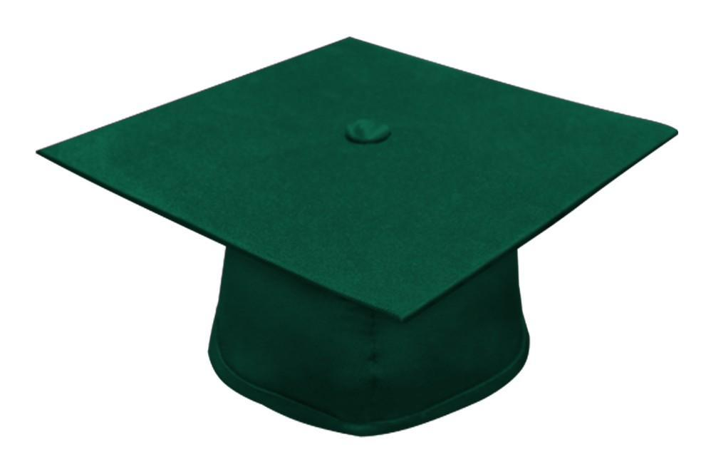 Matte Hunter Bachelors Graduation Cap - College & University - Graduation Cap and Gown