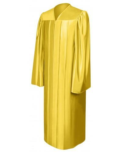 Shiny Gold Bachelors Graduation Gown - College & University - Graduation Cap and Gown