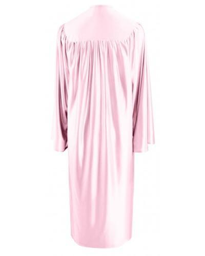 Shiny Pink Bachelors Graduation Gown - College & University - Graduation Cap and Gown