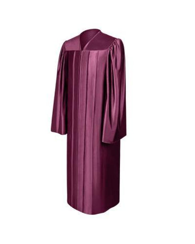 Shiny Maroon Bachelors Graduation Gown - College & University - Graduation Cap and Gown