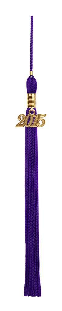 Shiny Purple High School Graduation Cap and Gown - Graduation Cap and Gown