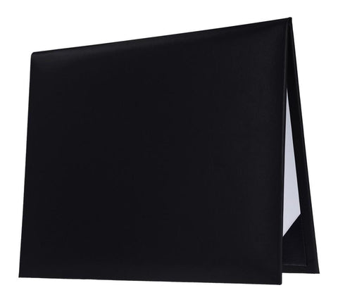 Black Graduation Diploma Cover - College & High School Diploma Covers - Graduation Cap and Gown