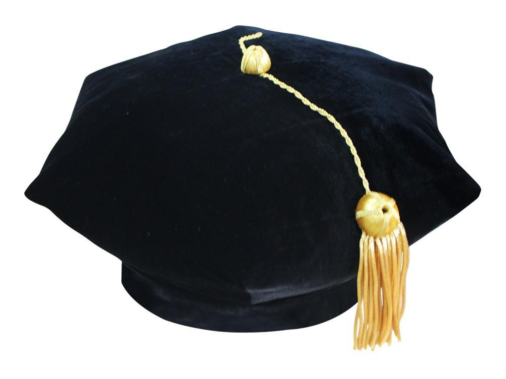 6 Sided Doctoral Tam - Academic Faculty Regalia - Graduation Cap and Gown