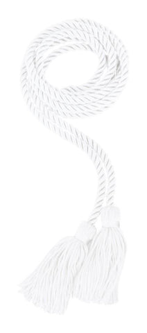 White Graduation Honor Cord - High School Honor Cords - Graduation Cap and Gown