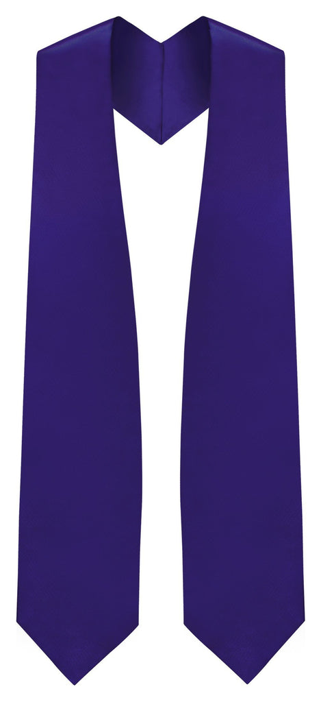 Purple Graduation Stole - Purple College & High School Stoles - Graduation Cap and Gown