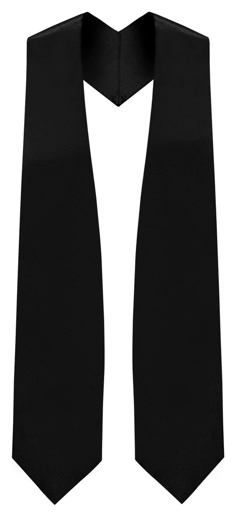 Black Graduation Stole - Black College & High School Stoles - Graduation Cap and Gown