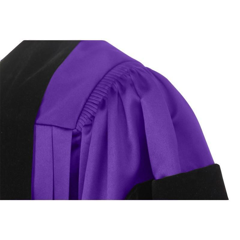 Deluxe Purple Doctoral Gown