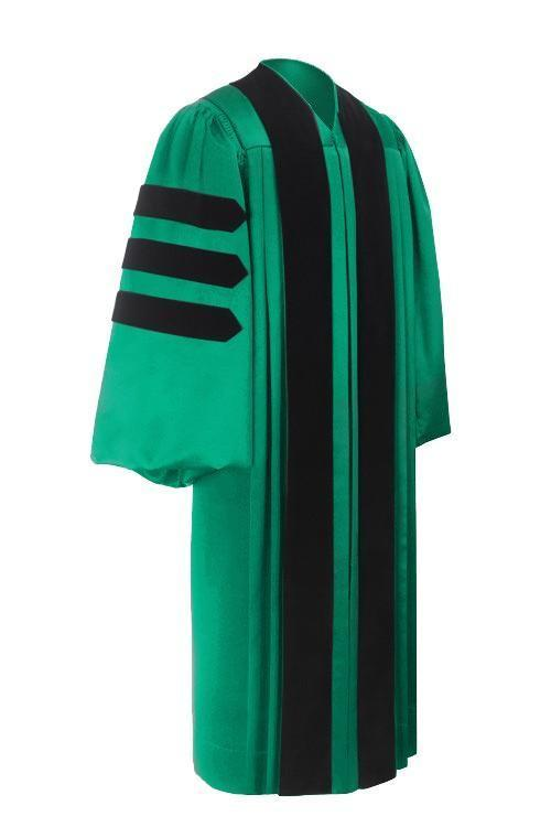 Deluxe Emerald Doctoral Gown