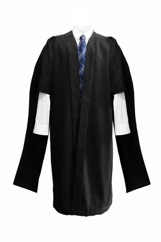 Deluxe Black Masters Graduation Gown - Graduation UK