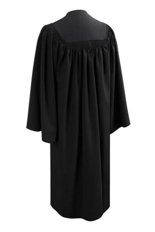 Deluxe Black High School Graduation Gown - Fluted Gown - Graduation Cap and Gown