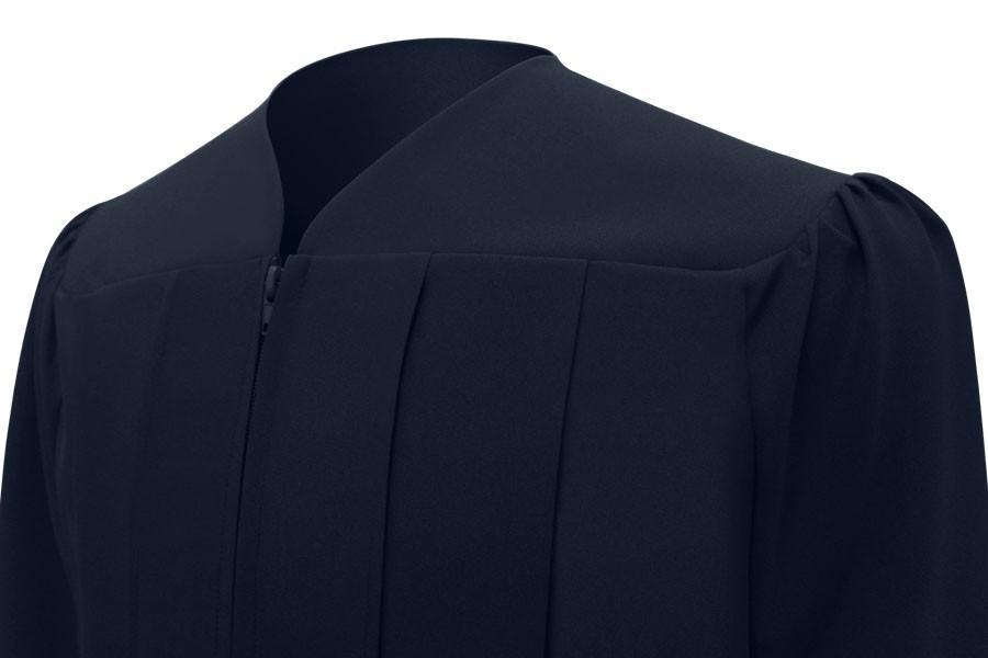 Matte Navy Blue High School Graduation Gown - Graduation Cap and Gown