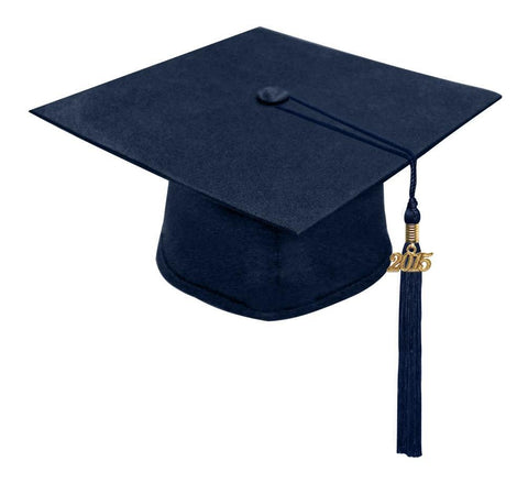 Matte Navy Blue High School Cap & Tassel - Graduation Caps - Graduation Cap and Gown