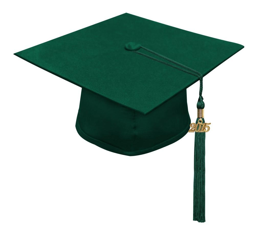Matte Hunter High School Cap & Tassel - Graduation Caps - Graduation Cap and Gown