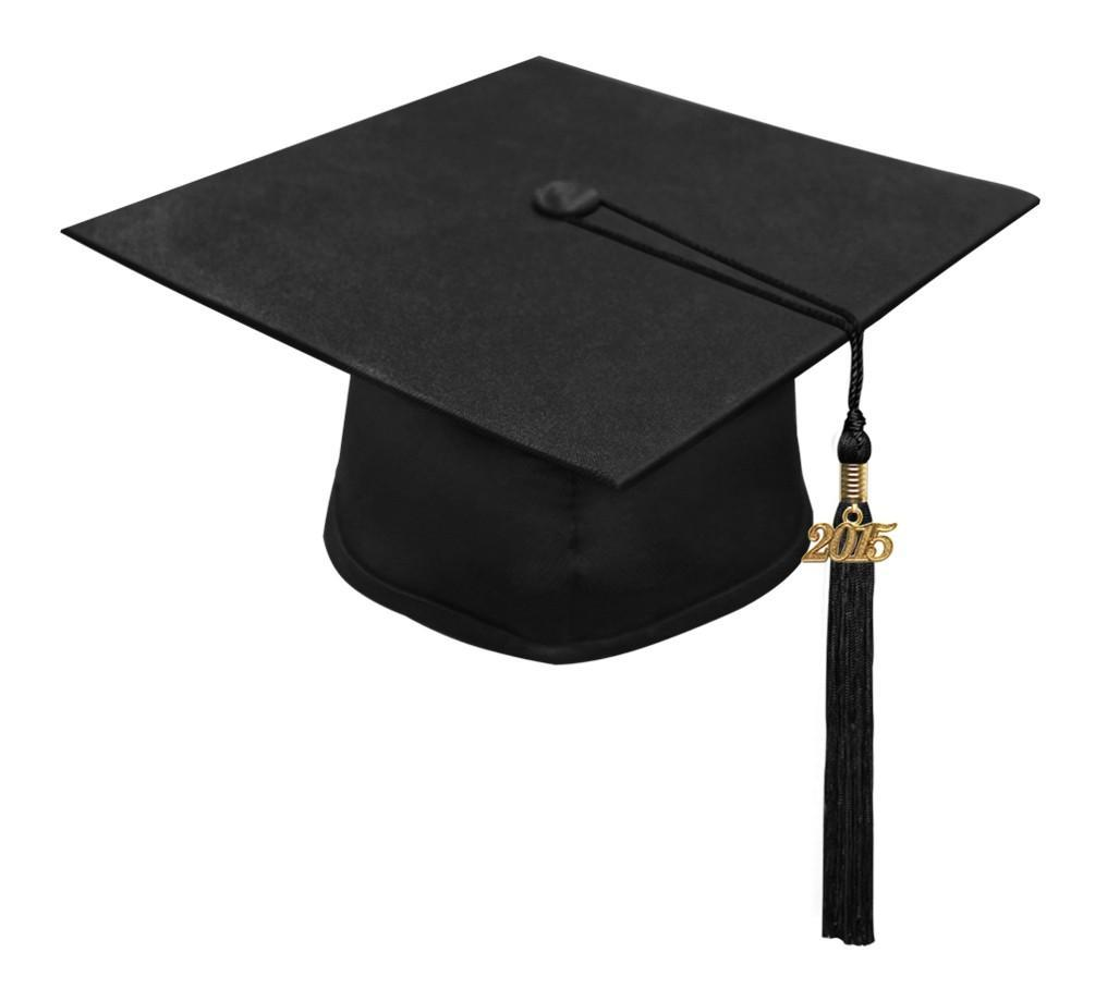 Matte Black High School Cap & Tassel - Graduation Caps - Graduation Cap and Gown