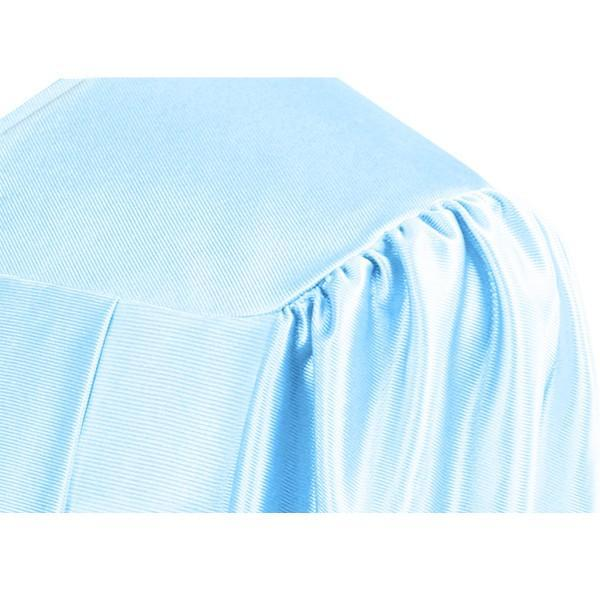 Shiny Light Blue High School Graduation Gown - Graduation Cap and Gown