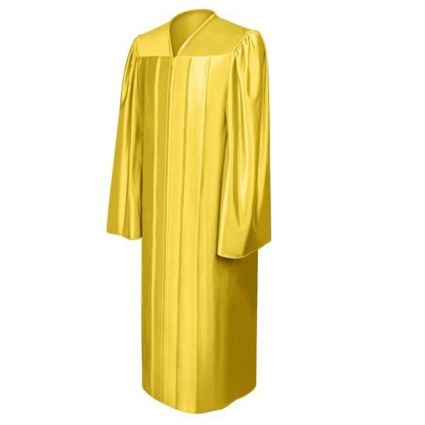 Shiny Gold High School Graduation Gown - Graduation Cap and Gown