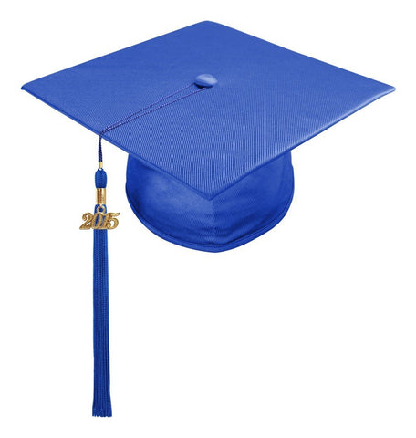 Shiny Royal Blue High School Cap & Tassel - Graduation Caps - Graduation Cap and Gown