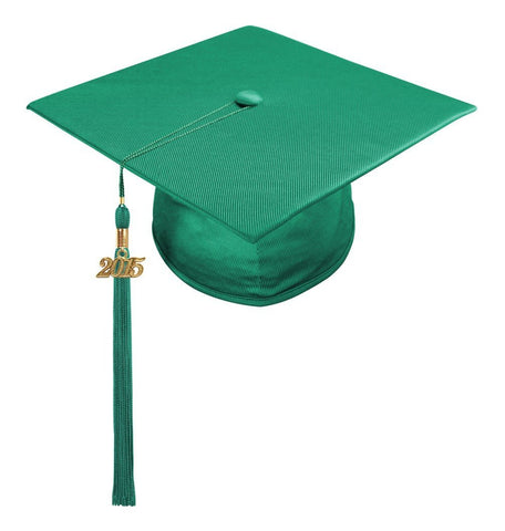 Shiny Emerald Green High School Cap & Tassel - Graduation Caps - Graduation Cap and Gown