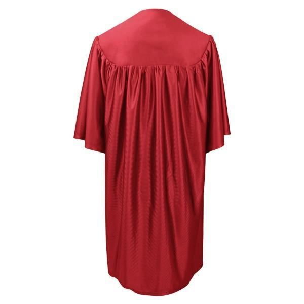 Child Red Graduation Gown - Preschool & Kindergarten Gowns - Graduation Cap and Gown