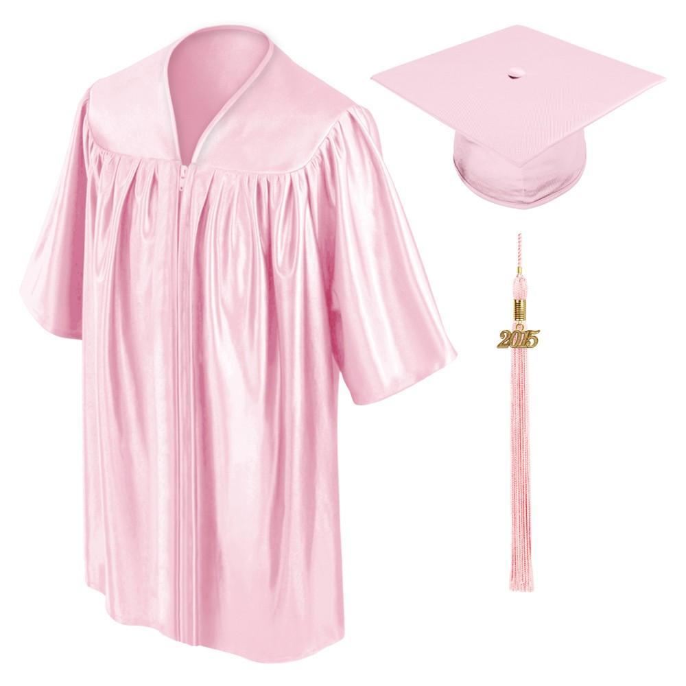 Child Pink Graduation Cap & Gown - Preschool & Kindergarten - Graduation Cap and Gown