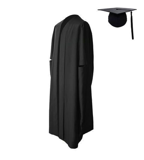 Classic Black Masters Graduation Cap & Gown - Graduation UK