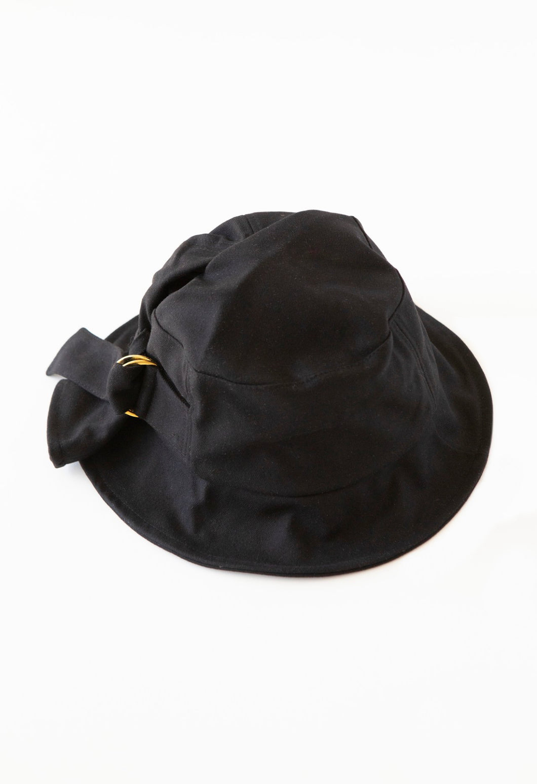 Gold Buckle Hat | Black