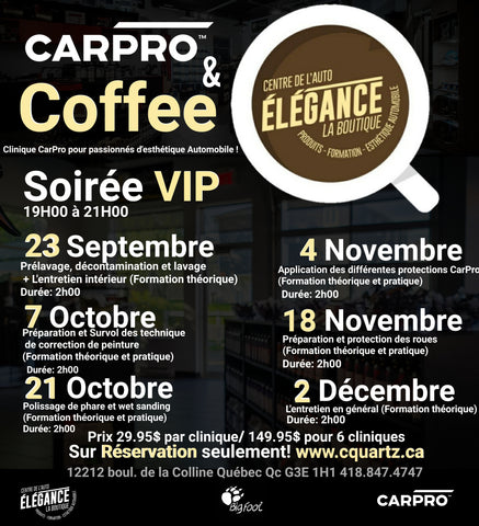 CARPRO and Coffee (6 cliniques)