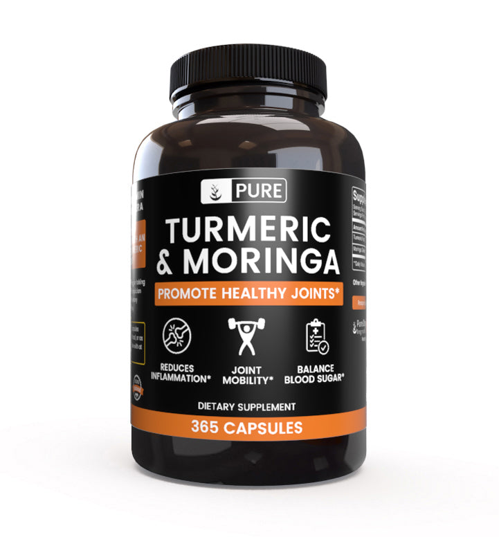 100% Natural Turmeric & Moringa |365 Capsules |120-Day Supply