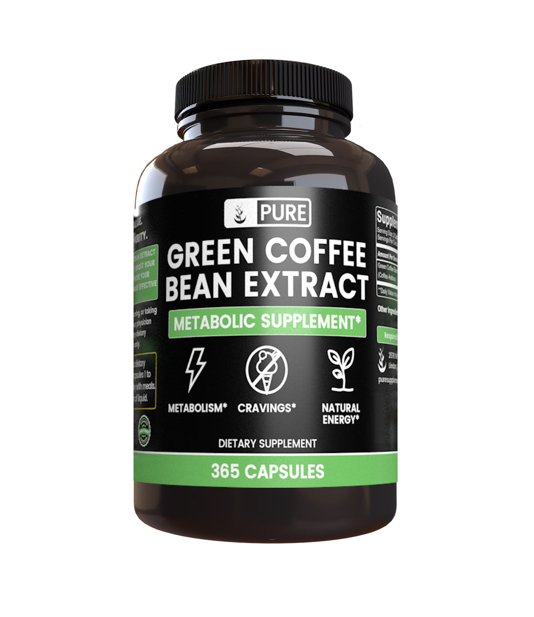 Green Coffee Bean Extract (365 Capsules)
