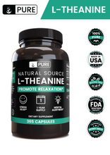 Load image into Gallery viewer, L-Theanine (365 Capsules, 355 Mg/Serving)