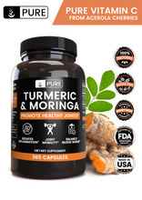 Load image into Gallery viewer, 100% Natural Turmeric & Moringa |365 Capsules |120-Day Supply