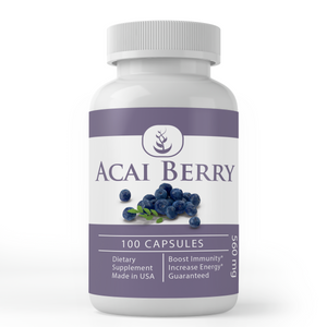 Acai Berry Supplements (100 Capsules, 560 mg)
