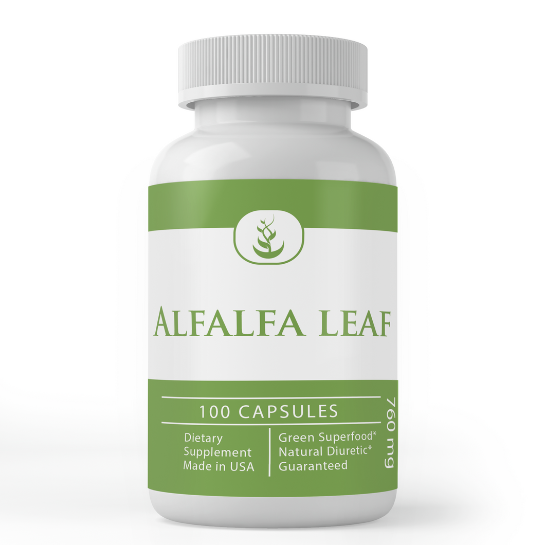 Alfalfa Leaf Capsules (760 mg Per Serving)