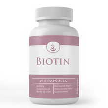 Load image into Gallery viewer, Biotin Capsules (100 Capsules, 785,000 mcg per Serving)