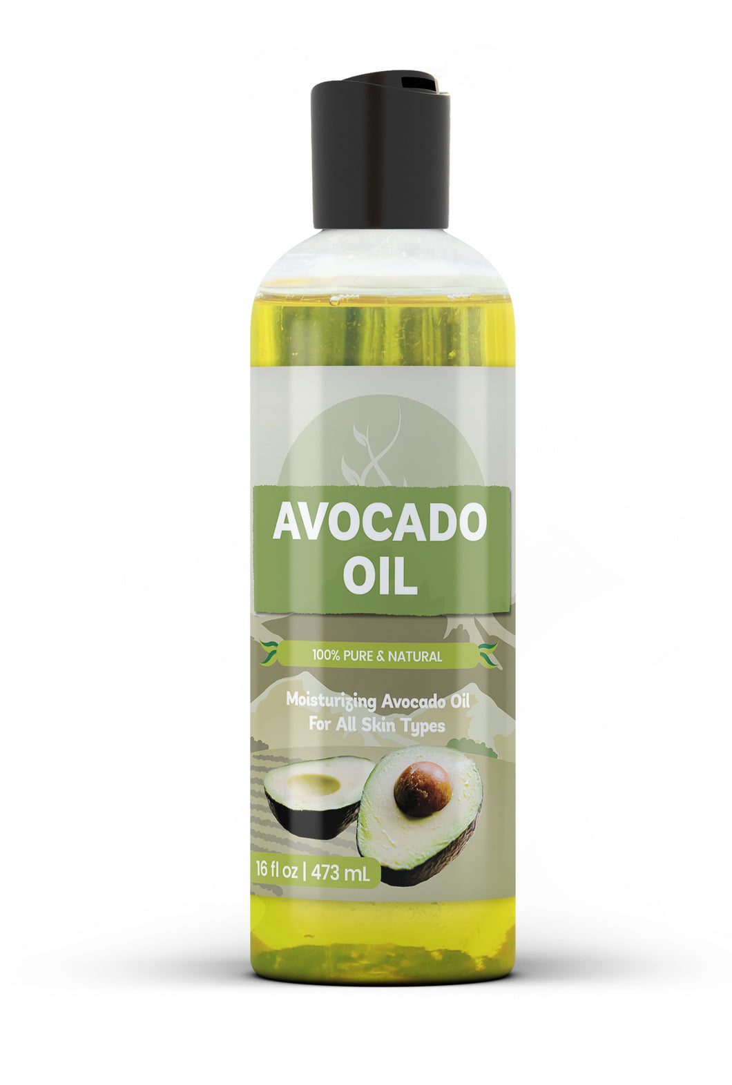 Avocado Oil - 100% Pure, Kosher, All-Natural, Nutrient & Vitamin-Rich Moisturizing Oil for Healthier Hair, Nails & Skin