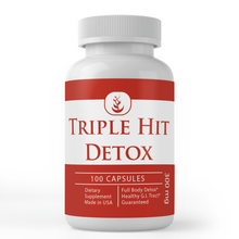 Load image into Gallery viewer, Triple Hit Detox (100 Capsules, 300 mg Serving)