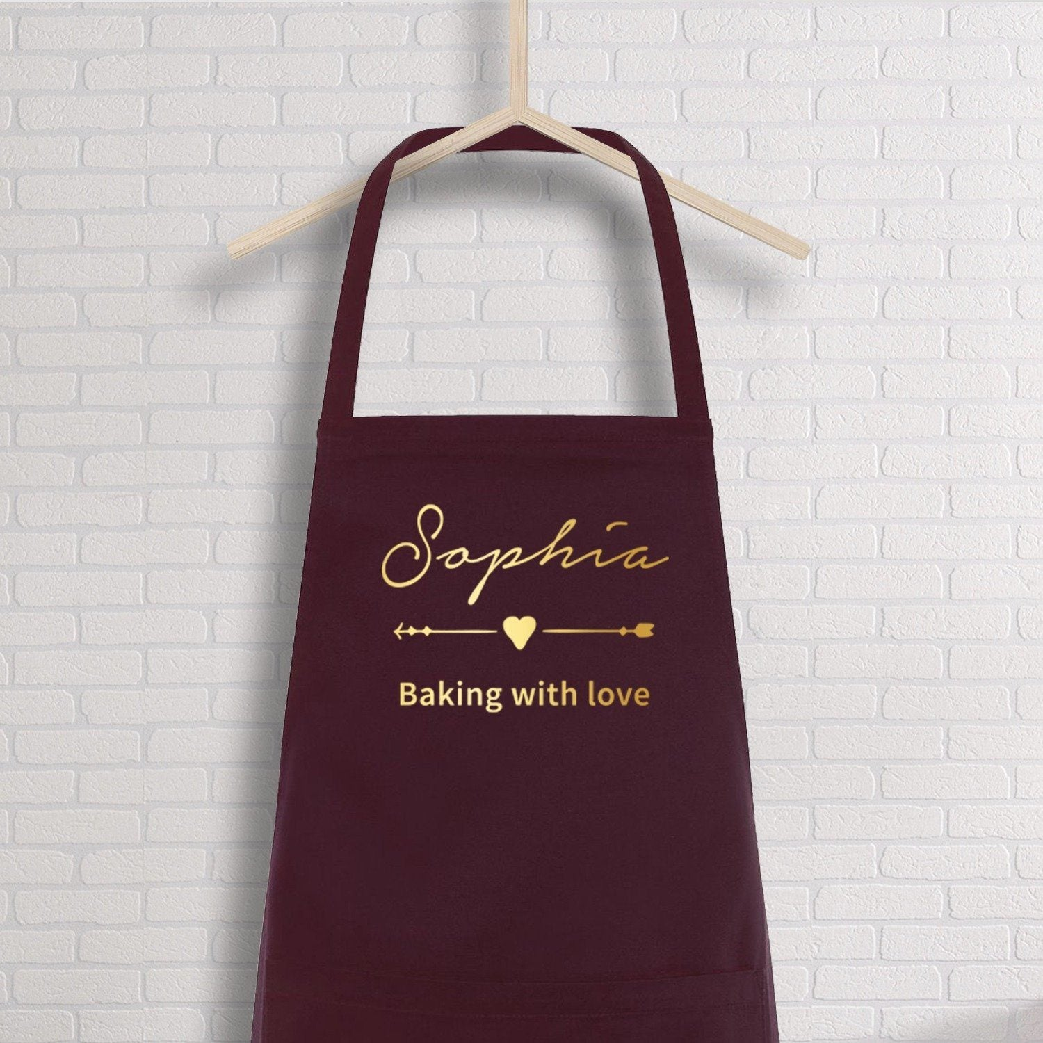 Personalised apron with name, Name kitchen apron for women and for men