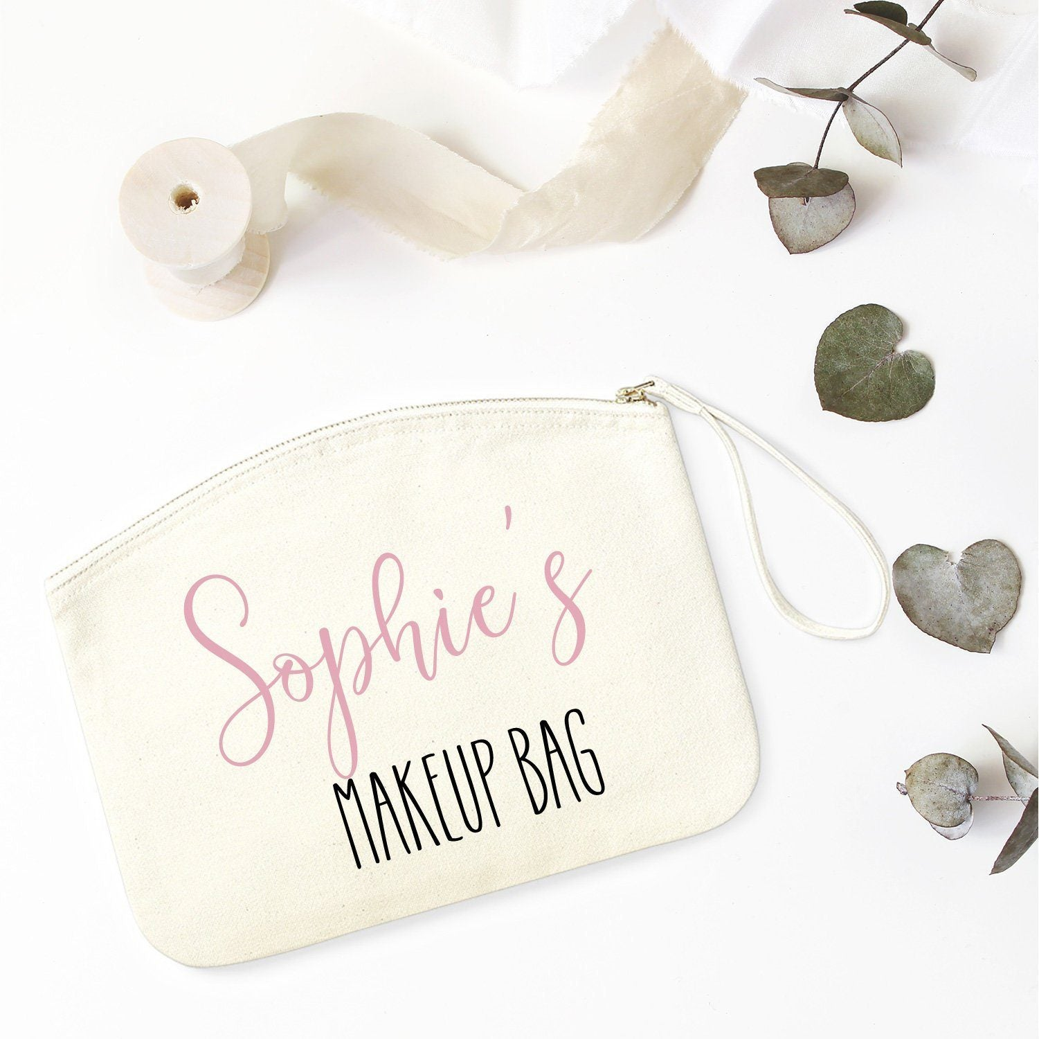 Personalised Makeup Bag With Name Gift For Her Unique Birthday