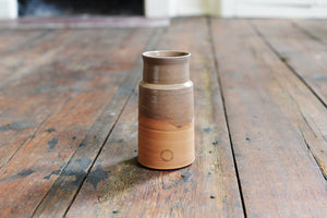 Handmade Blacking Pot by Nigel Hunter in Coral/Taupe