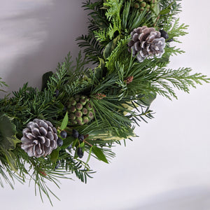 Harts of Lee Handmade Wreath in Blue Green