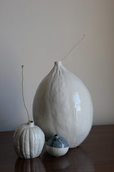 Natural Selections 'Autumnal Vessels': Porcelain Melon Vase