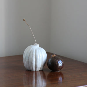 Natural Selection 'Autumnal Vessels': Small Porcelain Pumpkin Vase