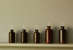 Victorian Salt-glazed Ceramic Ink Bottles