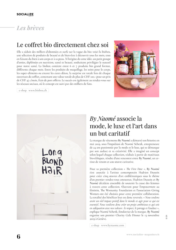 Socialize Magazine shares about By Naomé