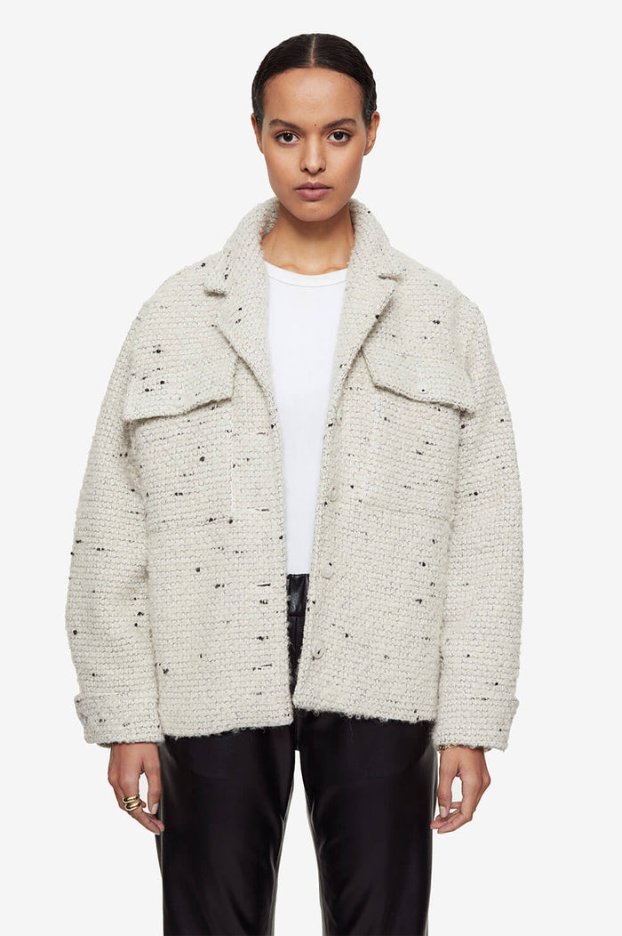 ANINE BING Leon Jacket - White Tweed