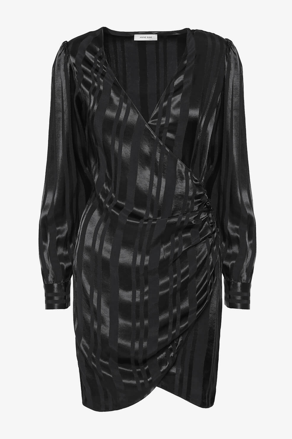 ANINE BING Penelope Dress - Black Tonal Stripe